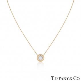 Tiffany & Co. Diamond Circle Tiffany T Pendant